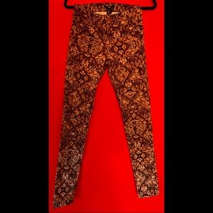 H&M Patterned Skinny High Waisted Pants